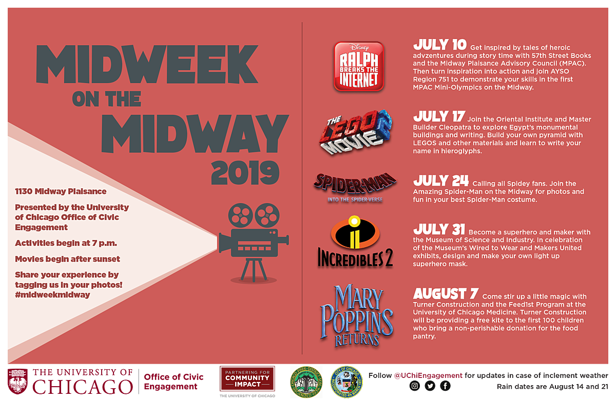Midweek on the Midway 2019 line up