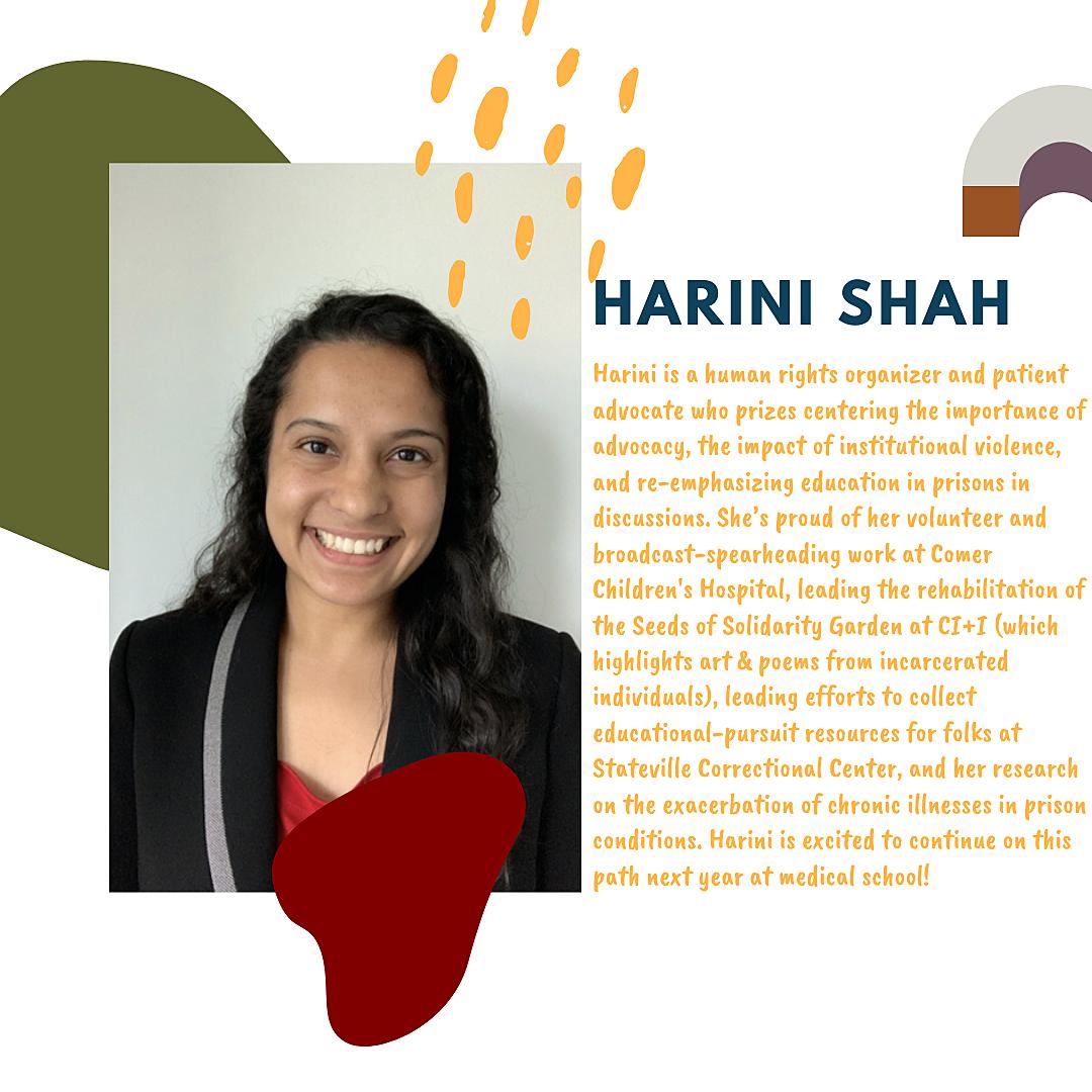 Harini Shah, 2020 Perry Herst Prize Winner