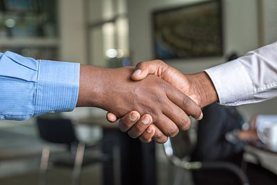 handshake black entrepreneur