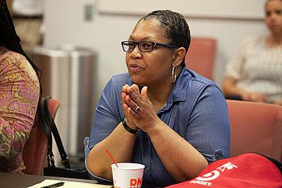 Jennifer Maddox, of Future Ties, at trauma-informed training