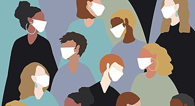 People in masks