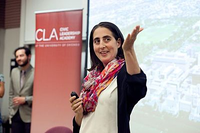 Joanie Friedman recruits for CLA