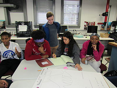 Students Working on Project